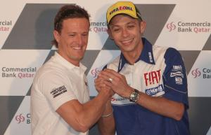 Gibernau and Rossi, Qatar MotoGP, 2009