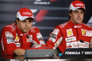 Race, Press conference, Felipe Massa (BRA), Scuderia Ferrari, F10 and Fernando Alonso (ESP), Scuderi