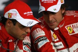 Race, Press conference, Fernando Alonso (ESP), Scuderia Ferrari, F10 and Felipe Massa (BRA), Scuder