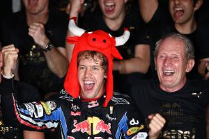 Celebration, Sebastian Vettel (GER), Red Bull Racing, RB6 race winner and 2010 champion