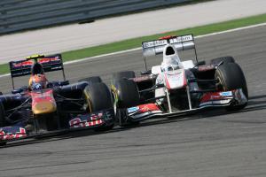 08.05.2011- Race, Jaime Alguersuari (SPA), Scuderia Toro Rosso, STR6 and Kamui Kobayashi (JAP), Saub