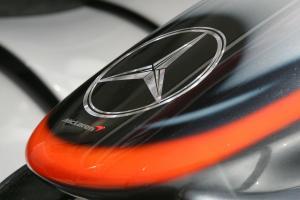 Mercedes badge on McLaren nose at the Hungarian Grand Prix