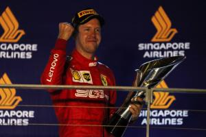 Support from F1 fans inspired me to Singapore win - Vettel