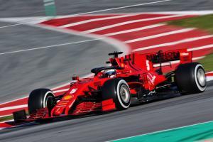 Ferrari engine issue curtails Vettel's F1 testing running