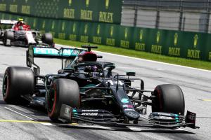 Lewis Hamilton loses front row start after Red Bull protest