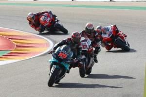 Fabio Quartararo , MotoGP race, Aragon MotoGP. 18 October 2020