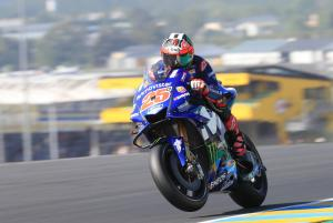 Vinales leads damaged Marquez in FP3