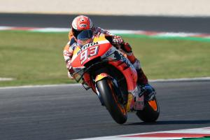 Marquez leads Vinales in Misano warm-up