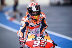 Marquez tops Thailand MotoGP Warm-up as Dovizioso hits trouble