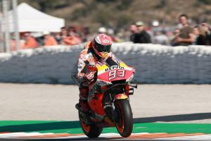 Marquez stretches to Valencia MotoGP victory and seals Triple Crown