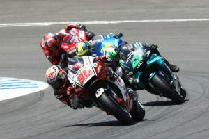 'Marquez-style' takes Nakagami to brink of podium