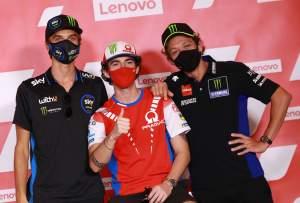 Luca Marini, Francesco Bagnaia, Valentino Rossi, San Marino MotoGP. 10 September 2020