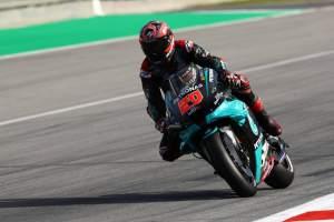 Fabio Quartararo tops Catalunya MotoGP warm-up despite crash