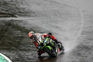 Rea triumphs in wet, wild and red flag-hit Misano opener