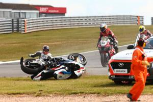 PICS: Sykes slams WorldSBK rule after losing podium in cool down crash