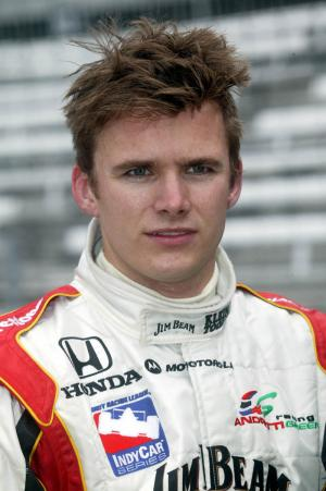 Wheldon leads, equals career best in Chicagoland.