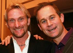 Fogarty and Whitham together for Friends of Huck charity night