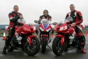 F1 legends Brundle, Warwick try Ron Haslam Race School