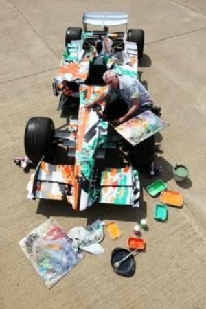 Force India 'art car' ready for auction