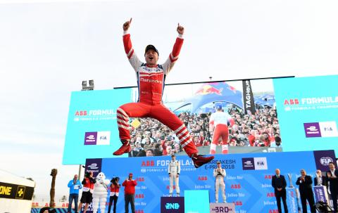 Rosenqvist battles past Buemi for Marrakesh Formula E victory