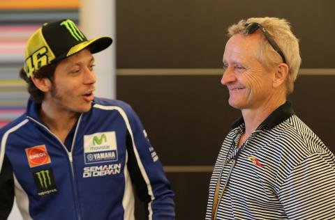 Rossi's dream rival: Schwantz on a 500!