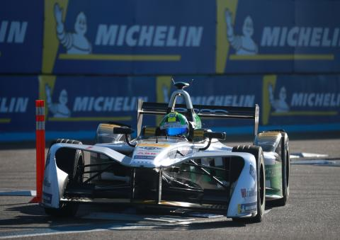 Di Grassi on provisional pole at Punta, under investigation