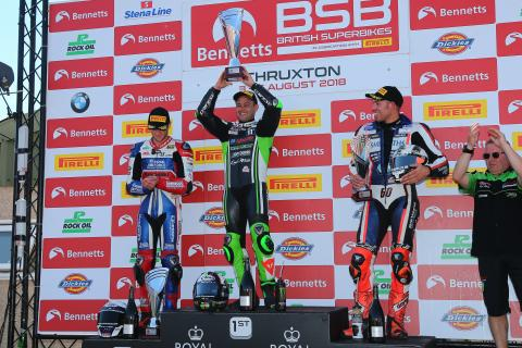 Haslam breaks Thruxton duck
