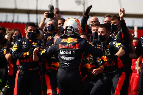 Verstappen beats Mercedes to F1's 70th Anniversary GP win