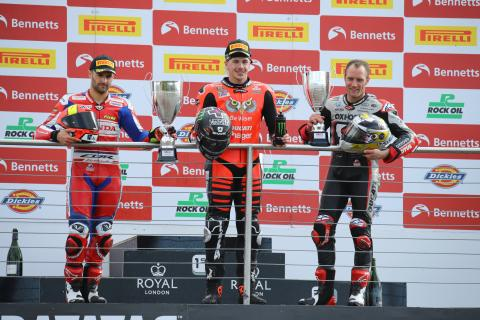 Redding scores Donington hat-trick to move into BSB lead