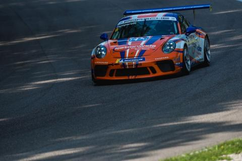 Zamparelli escapes pile-up to win opening Monza race