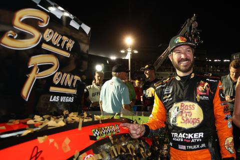 Martin Truex, Jr sees off Kevin Harvick to claim win at Las Vegas
