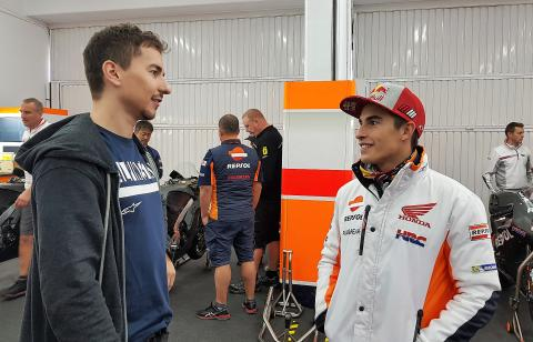 PICS: Behind the scenes at Lorenzo's Honda debut
