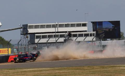 Hartley out of British GP qualifying after practice crash