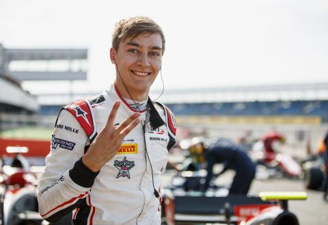 Mercedes F1 junior Russell seals third straight F2 pole at Silverstone
