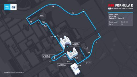 Rome agrees five-year extension to host Formula E with revised layout