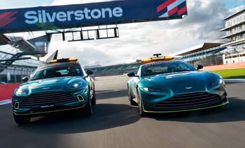 FIRST LOOK: New Aston Martin and Mercedes F1 Safety Cars revealed
