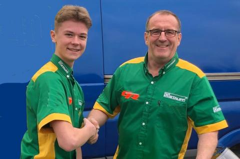 Storm Stacey set to become youngest-ever BSB rider