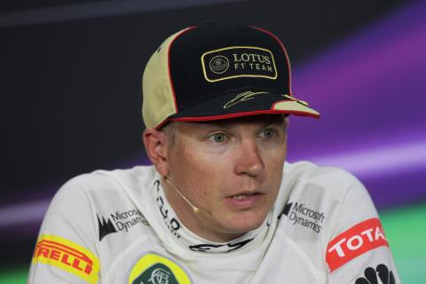 07.07.2013- Race, Press conference, Kimi Raikkonen (FIN) Lotus F1 Team E21