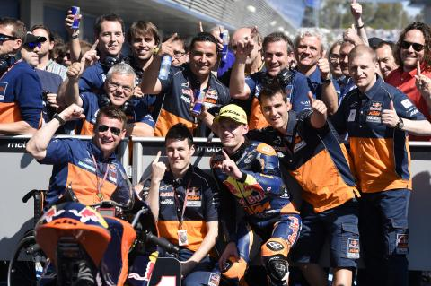 Moto3: Incredible Binder last to first for debut win!