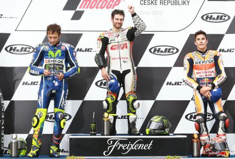 Crutchlow masters wet for Brno victory