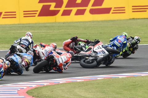 MotoGP: First turn mayhem