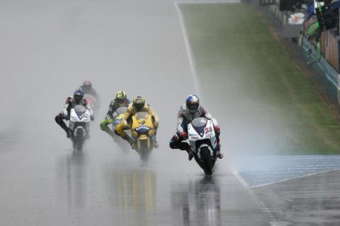 Hopkins, Barros, Rossi, Roberts, Edwards, British MotoGP Race 2005