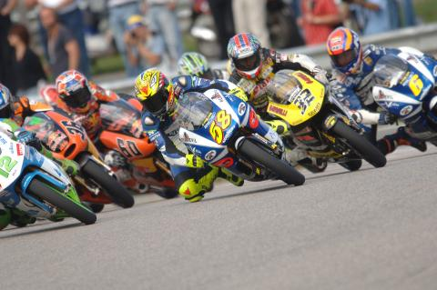 Race start, German 125GP Race 2005