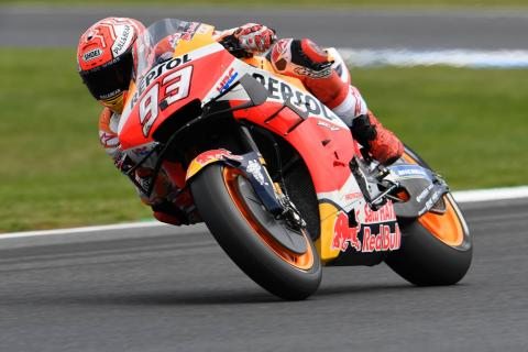 Marquez beats Vinales who falls on last lap in Phillip Island thriller