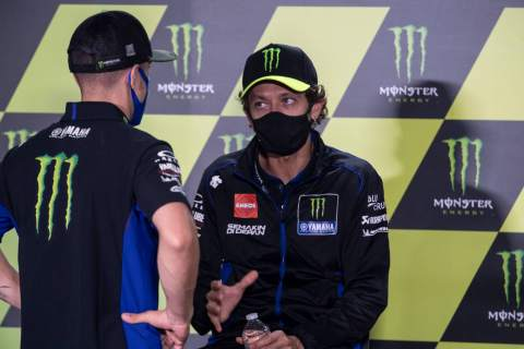 Vinales fastest with new parts, Rossi 'found something'