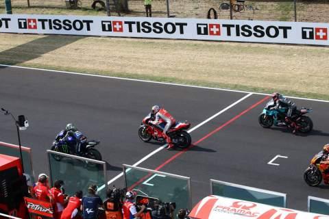 Race start Emilia Romagna MotoGP. 20 September 2020