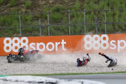 Andrea Dovizioso, Johann Zarco crash, Catalunya MotoGP. 27 September 2020