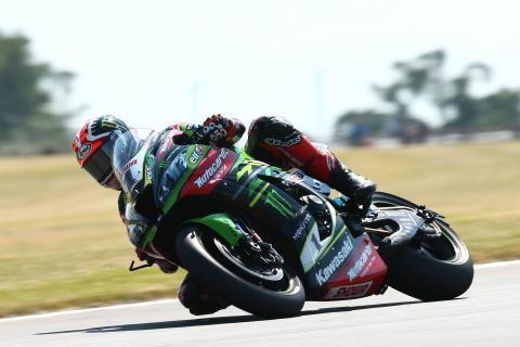 Rea takes sprint win after oil causes crash chaos, Sykes loses second