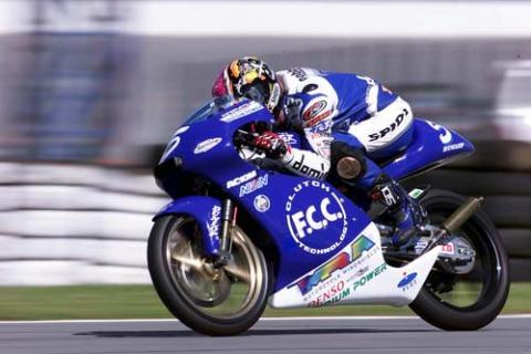 Ueda wins rain interrupted 125 race.