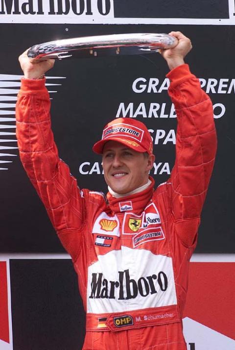 Spanish GP 2001 - Schumacher inherits Barcelona.